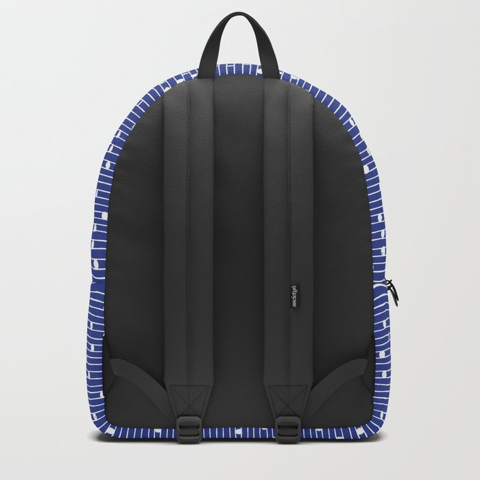 Lines and Circles - Blue Backpack