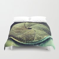 aperture Duvet Covers featuring aperture1 by Art by Kaitlyn Alyse