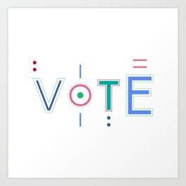 Vote Baby Vote 031916 Art Print