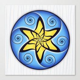 Mandala Spiral Star Canvas Print
