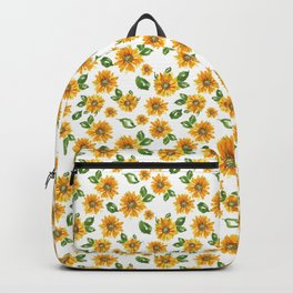 Watercolor Sunflower Backpack