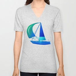 Ocean & Waterdrops / Oil Painting Unisex V-Neck