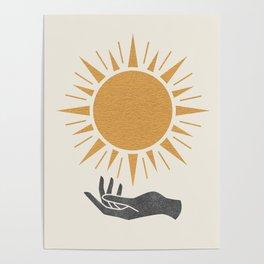 Sunburst Hand Poster