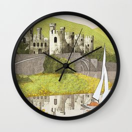 Wales Conwy Castle Wall Clock