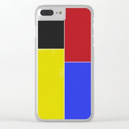 Classic Primary colours art Clear iPhone Case