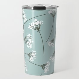 Queen Anne's Lace Floral Pattern Travel Mug