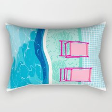 Vay-K - abstract memphis throwback poolside swim team palm springs vacation socal pool hang  Rectangular Pillow