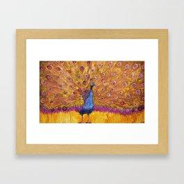 Peacock Sunset Framed Art Print