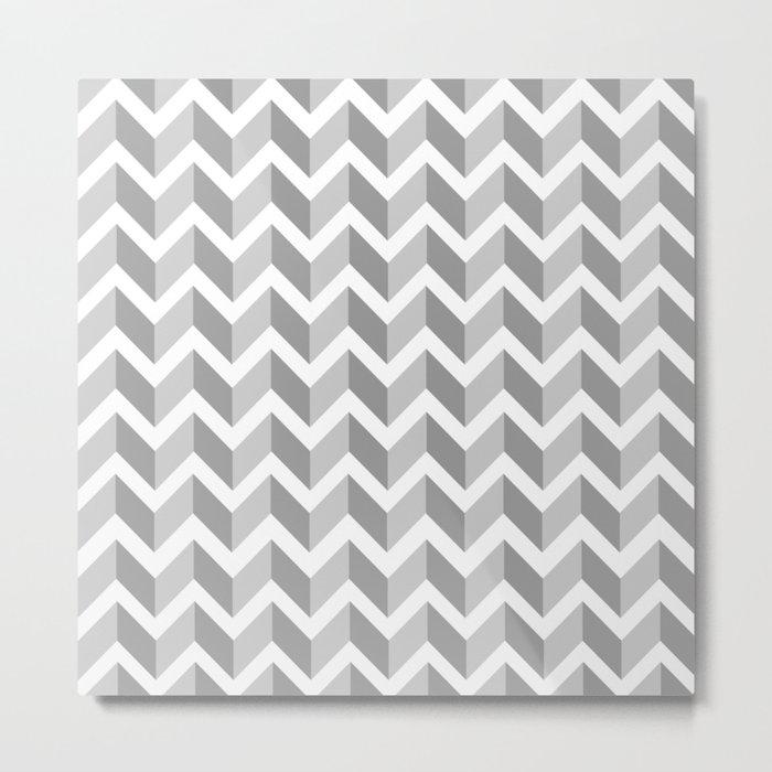 ERIN ((calm gray)) Metal Print