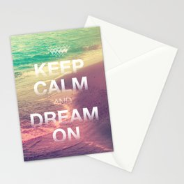 Beach Waves II - Keep Calm and Dream On Stationery Cards