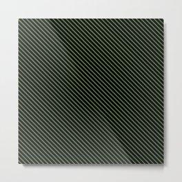 Kale and Black Stripe Metal Print
