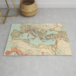 Vintage Map of The Roman Empire (1889) Rug