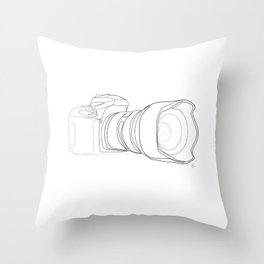 """ Photography Collection "" - Digital Camera With Big Lens Throw Pillow"