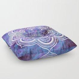 Galaxy Mandala Purple Lavender Blue Floor Pillow