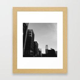 Broderick Tower - Detroit, MI Framed Art Print