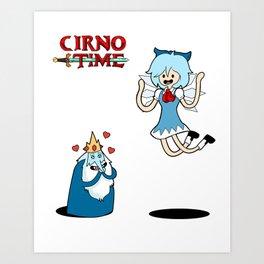 Cirno Time Art Print