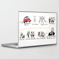 shaun of the dead Laptop & iPad Skins featuring Shaun of the Dead by Rob O'Connor