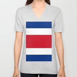 Costa Rica Flag Unisex V-Neck