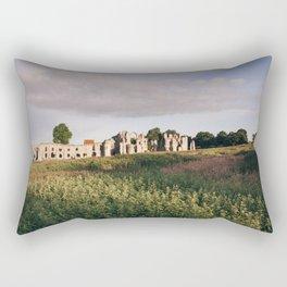 Old Priory ruins at sunrise. Norfolk, UK. Rectangular Pillow