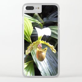 Lady Slipper Orchid Clear iPhone Case