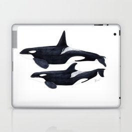 Orca male and female Laptop & iPad Skin