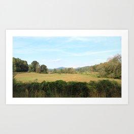 The rolling hills Art Print