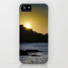Sunset Scene at La Libertad Malecon, Santa Elena, Ecuador iPhone Case
