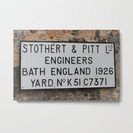 Stothert Metal Print