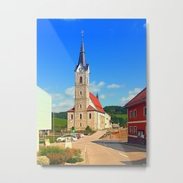The village church of Reichenau II | architectural photography Metal Print