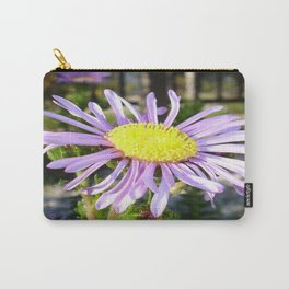 Close Up of A Violet Aster Flower Spring Bloom  Carry-All Pouch