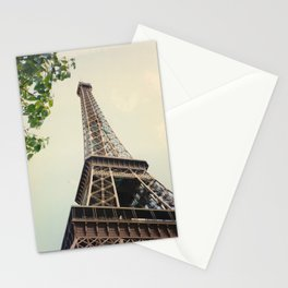 Looking Up At The Eiffel Tower Stationery Cards