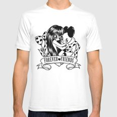 Forever friends MEDIUM Mens Fitted Tee White