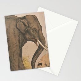 Vintage Elephant Illustration (1874) Stationery Cards
