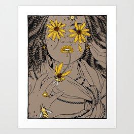 black eyed susan Art Print