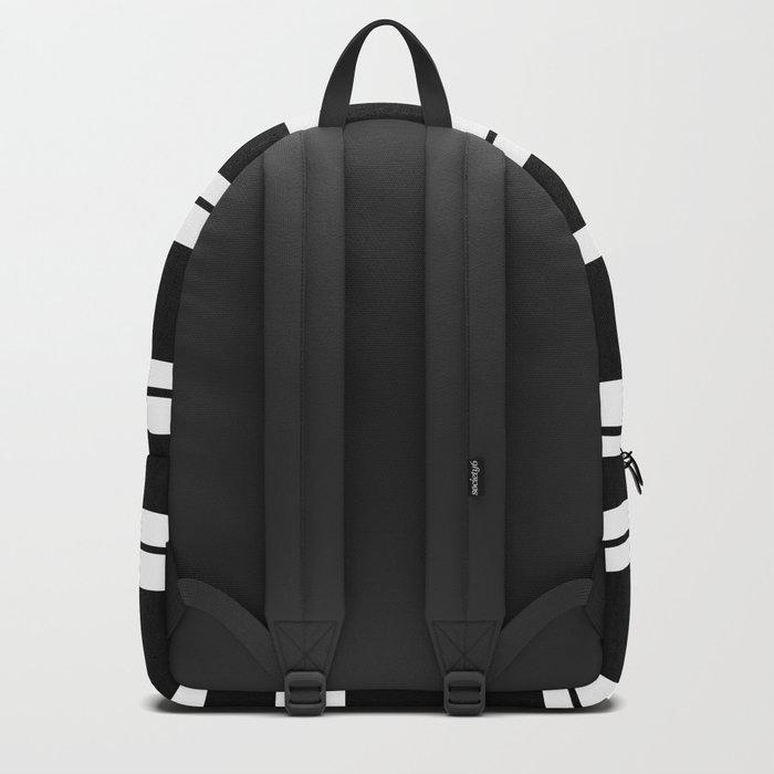Black And White Stripes Backpack