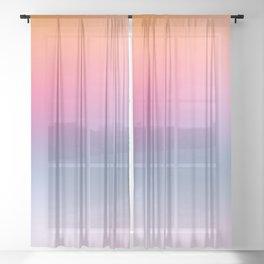 Rainbow Blush Sheer Curtain