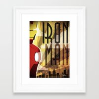 ironman Framed Art Prints featuring Ironman by FreeBoy