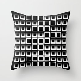 Light and shadow squares Throw Pillow