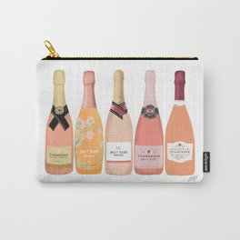 Rose Champagne Bottles Carry-All Pouch