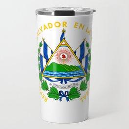 El Salvador Flag El Salvador Emblem Design Salvadoran graphic Travel Mug