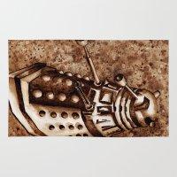 dalek Area & Throw Rugs featuring Dalek by Redeemed Ink by - Kagan Masters