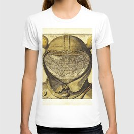 Fool's Cap Map of the World T-shirt