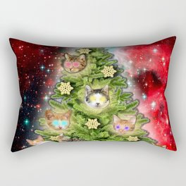MERRY CHRISTMAS CATS Rectangular Pillow