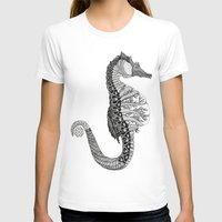 seahorse T-shirts featuring SEAHORSE by VOLPINE