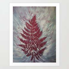 Fern Study 16 Art Print
