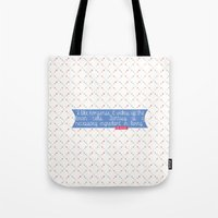 dr seuss Tote Bags featuring Dr. Seuss Quote by Denise
