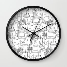 Inside a Kitchen Cupboard Wall Clock