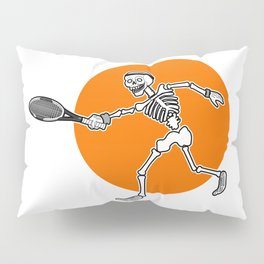 Calavera playing Tennis Pillow Sham