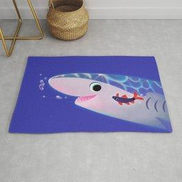 Rainbow shark meets blue shark Rug