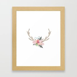 watercolor horns Framed Art Print